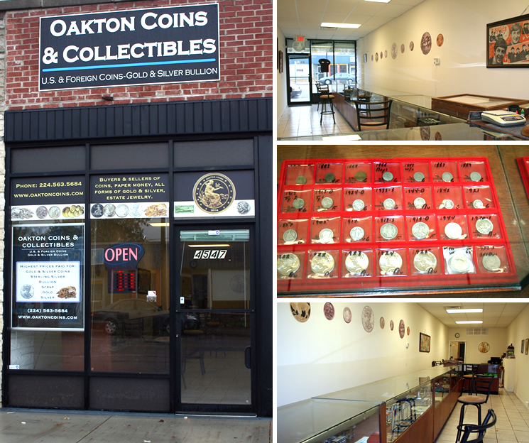 Oakton coins collectibles coin shop gold silver for Best place to sell gold jewelry in chicago